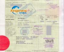 服装孟加拉转口贸易土耳其FORM A产地证案例2011