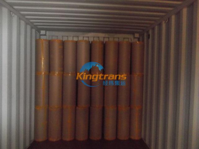 PVC膜转口哥伦比亚中转换柜现场